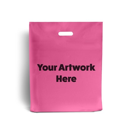 Shocking Pink Branded Plastic Carrier Bags