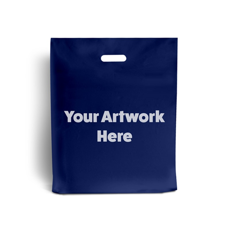 Navy Blue Branded Plastic Carrier Bags