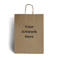 Brown Printed Paper Bags with Twisted Handles