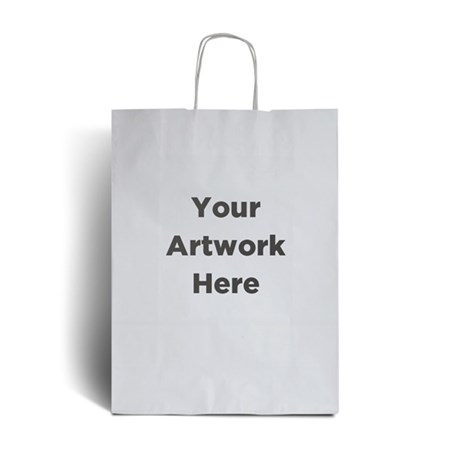 White Branded Paper Bags with Twisted Handles