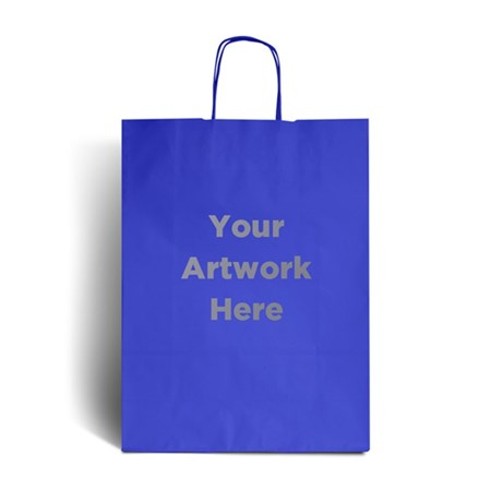 Ocean Blue Branded Paper Bags with Twisted Handles