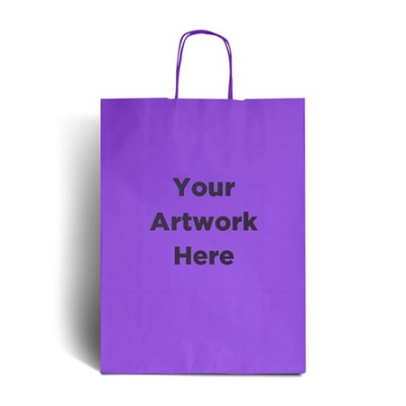 Lilac Branded Paper Bags with Twisted Handles