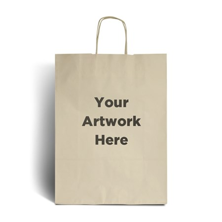 Ivory Branded Paper Bags with Twisted Handles