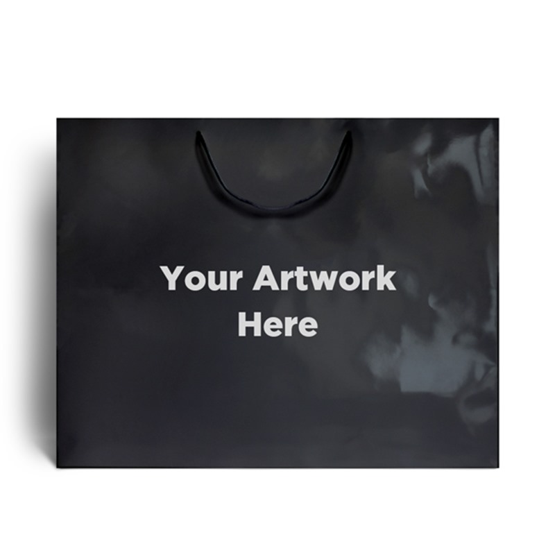 Black Branded Gloss Laminated Bags