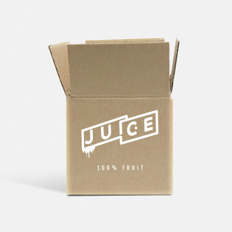"Printed 0201 Style Single Wall Cardboard Boxes - 5"" x 5"" x 5"""