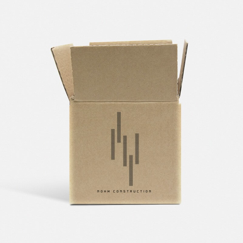 "Printed 0201 Style Single Wall Cardboard Boxes - 6"" x 6"" x 6"""