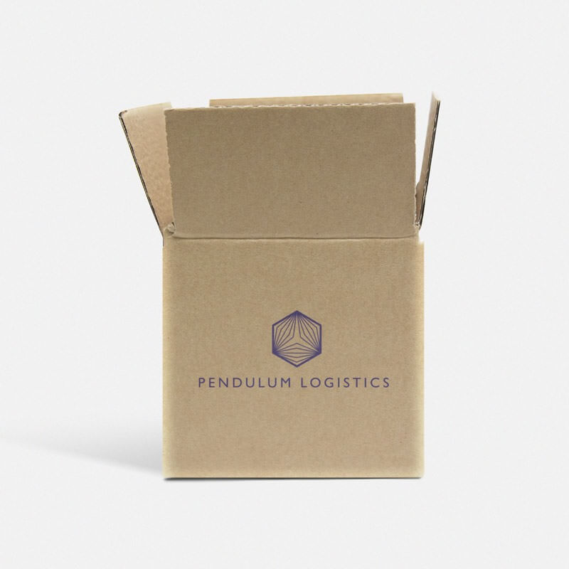 "Printed Single Wall Cardboard Boxes - 4"" x 4"" x 4"" [0201 Style]"