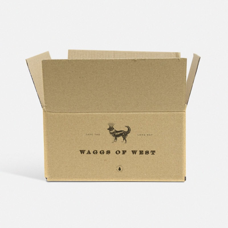 "Printed 0201 Style Single Wall Cardboard Boxes - 9"" x 6"" x 6"""