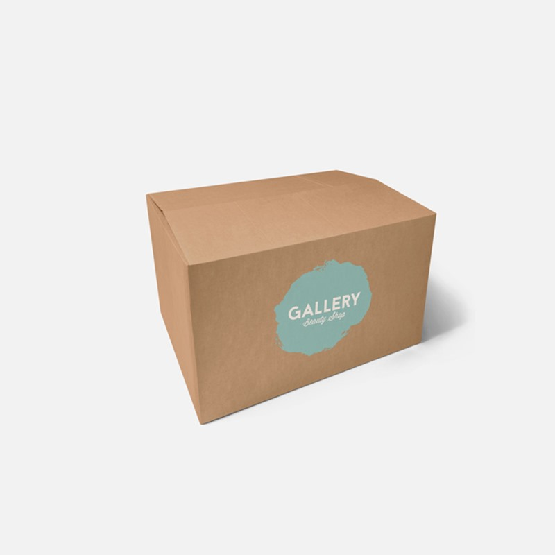 "Printed 0201 Style Single Wall Cardboard Boxes - 12"" x 9"" x 7"""