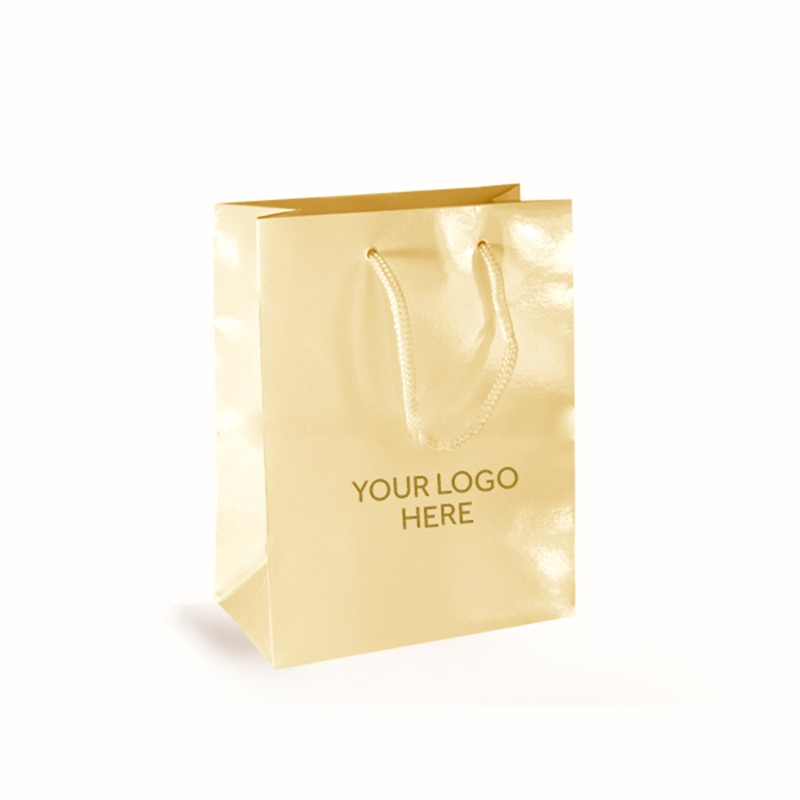 Cream Printed Gloss Laminated Bags