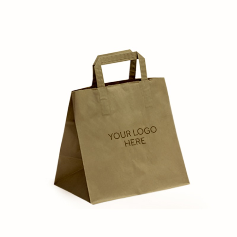 Brown Printed Patisserie Bags