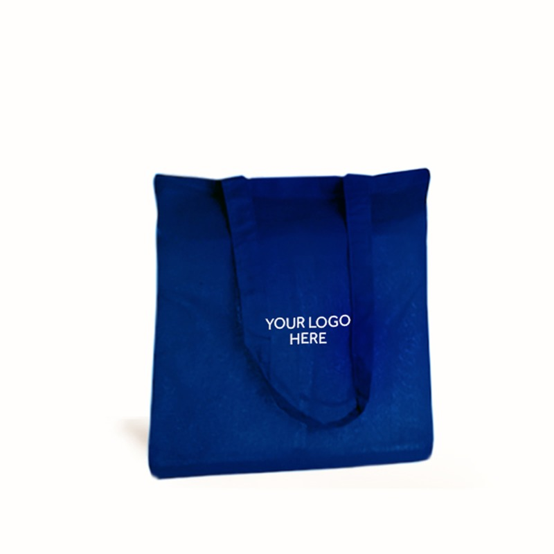 Personalised Royal Blue Cotton Shopping Bags