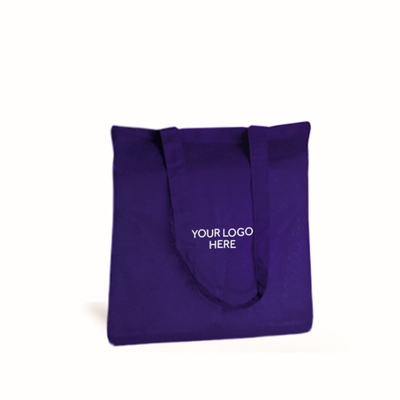 Personalised Purple Cotton Shopping Bags