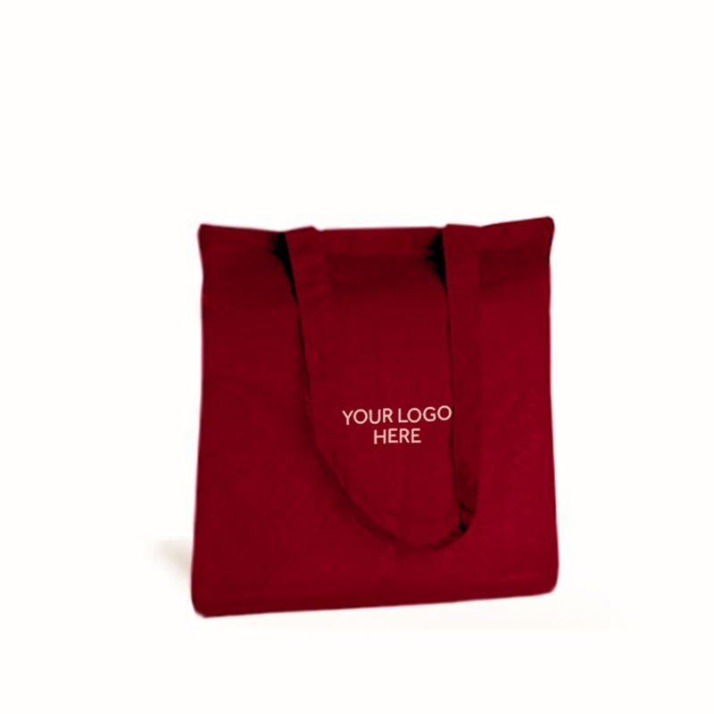 Personalised Red Cotton Shopping Bags