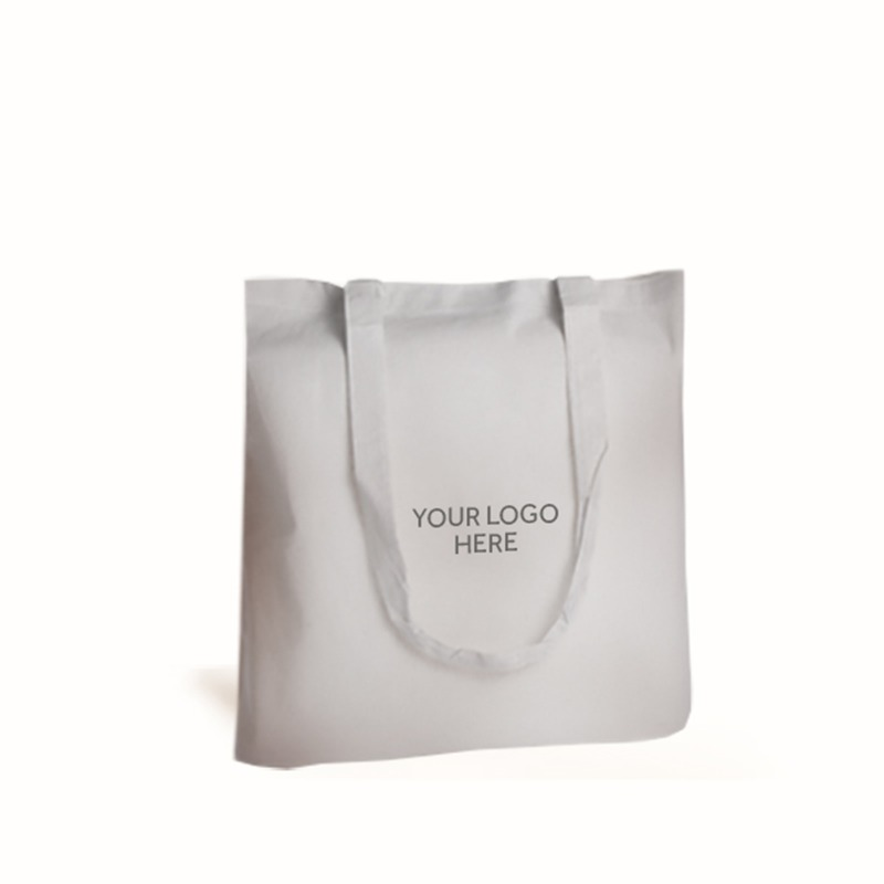 Personalised White Cotton Shopping Bags