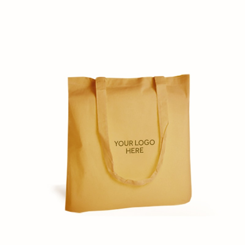 Personalised Yellow Cotton Shopping Bags