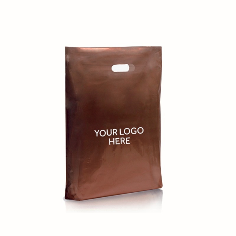 Light Brown Printed Varigauge Plastic Carrier Bags